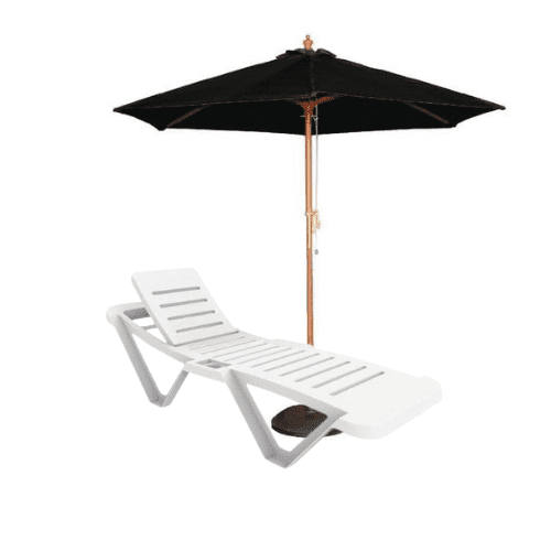 Parasols and Sunloungers